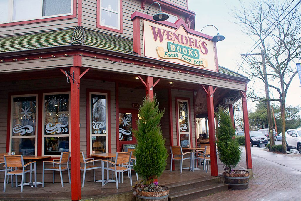 wendle's cafe books experience langley