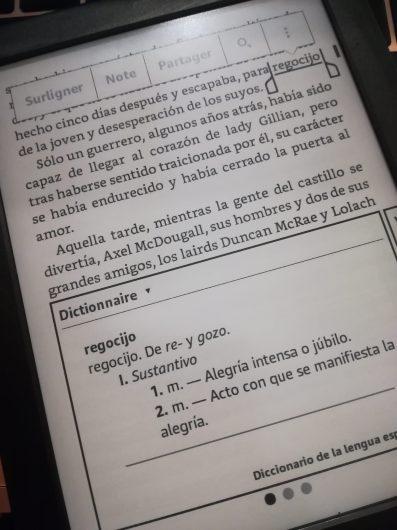 kindle espagnol dictionnaire