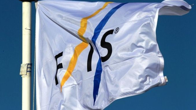 Det internationale skiforbund (FIS) flag