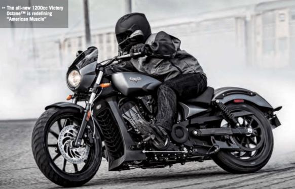 En av Polaris populära motorcyklar Victory 1200cc