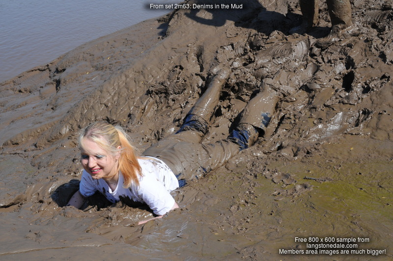 Denims In The Mud Maude And Felicity Throw Each Other