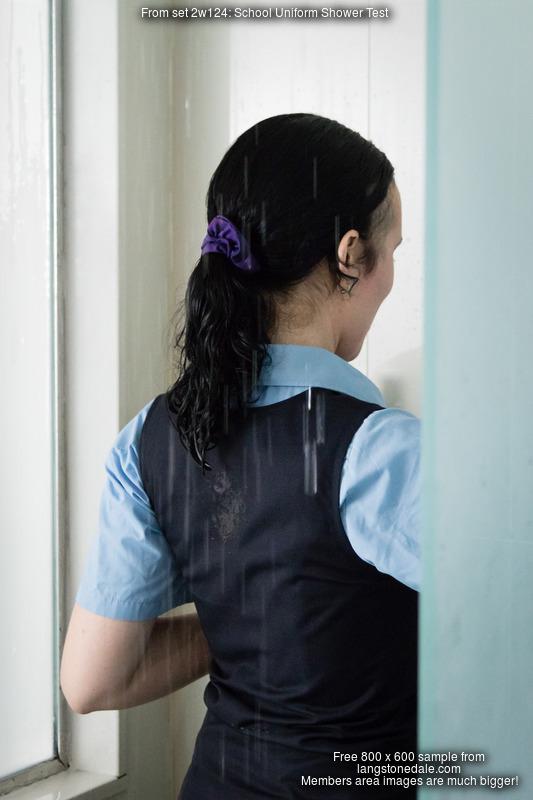 School Uniform Shower Test  Honeysuckle takes a schoolgirl shower in Bristol