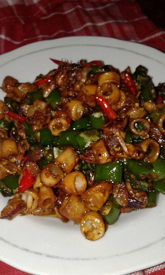 Masak Cumi Cabe Ijo : masak, Oseng, Mamah, Langsungenak.com
