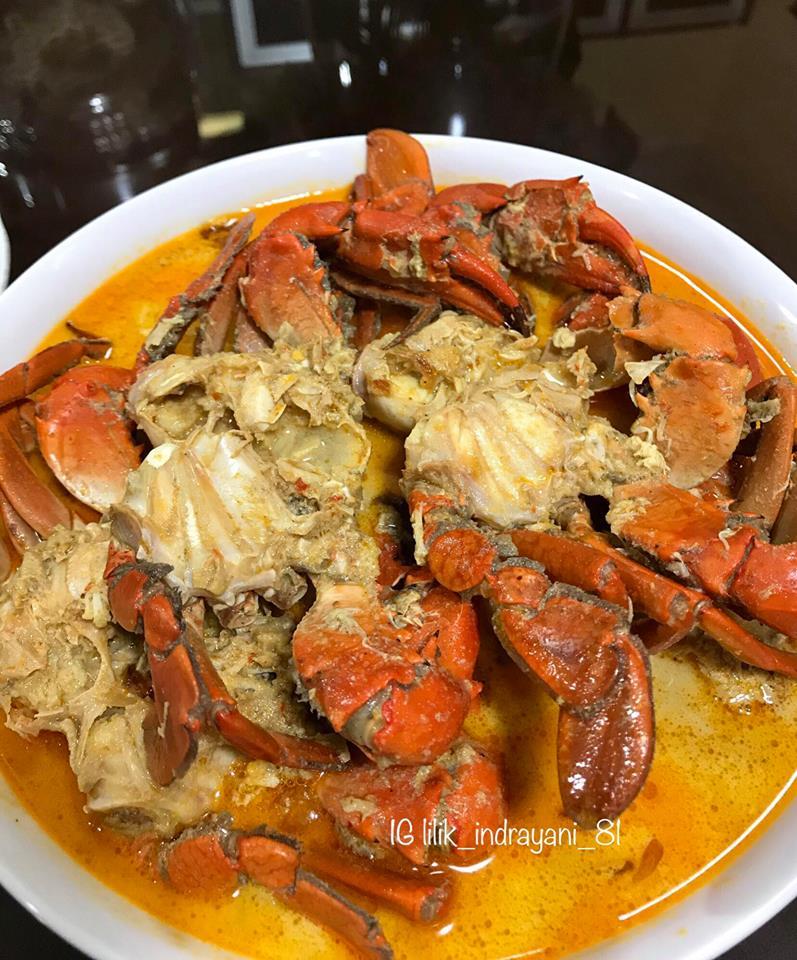 Resep Kepiting Kuah : resep, kepiting, Kepiting, Lilik, Indrayani, Langsungenak.com