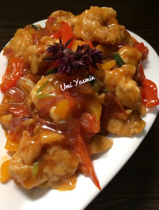Cara Masak Udang Asam Manis : masak, udang, manis, Fillet, Udang, Manis, Yasmin, Langsungenak.com
