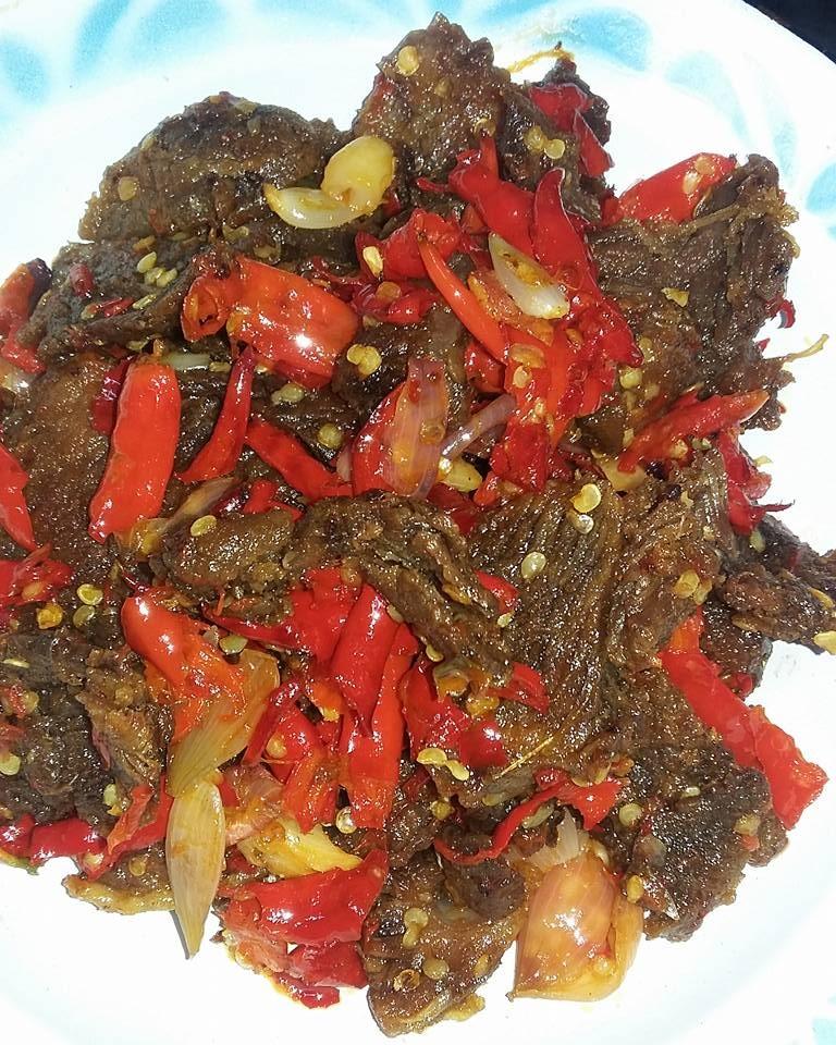 Resep Daging Balado : resep, daging, balado, Dendeng, Balado, Riananda, Adelina, Langsungenak.com