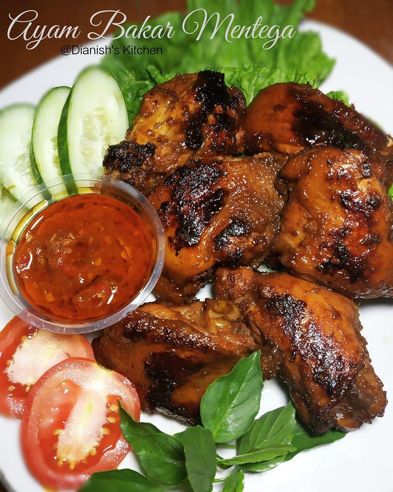 Bumbu Ungkep Ayam Bakar : bumbu, ungkep, bakar, BAKAR, MENTEGA, Dianish's, Kitchen, Langsungenak.com