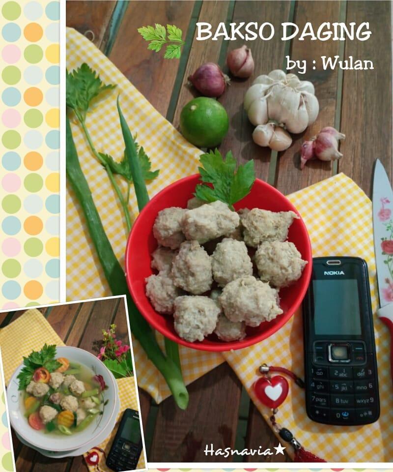 Resep Bakso Daging Sapi : resep, bakso, daging, BAKSO, DAGING, Navia, Wulandari, Langsungenak.com