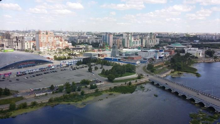 Вид на Челябинск с колеса обозрения