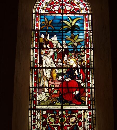 Checkendon Church Interior Church Apse Stained Glass Window