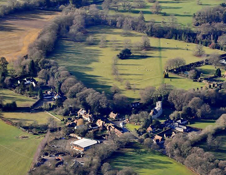 Checkendon church aerial image