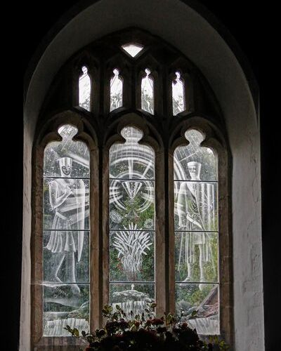 St Paul Peter Church, Checkendon Etched Stained Glass by