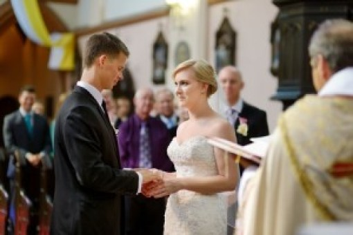 A couple at their wedding, Weddings - Langtree Team Ministry