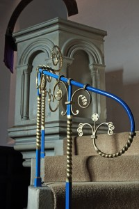 Pulpit stair rail, St Leonard's Church, WoodcoteChurch Photo Gallery