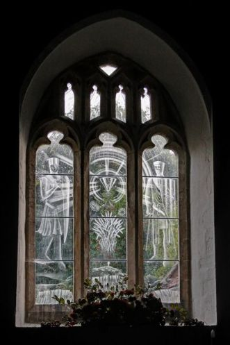 St Paul Peter Church Checkendon Stained Window NP orig