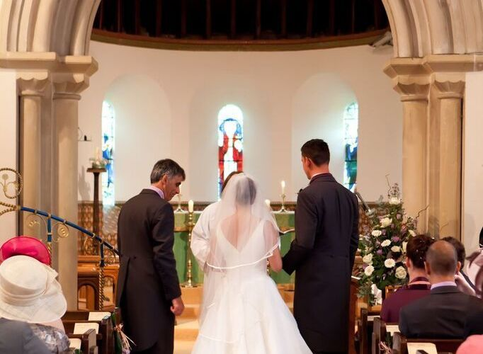 Wedding at Woodcote Church
