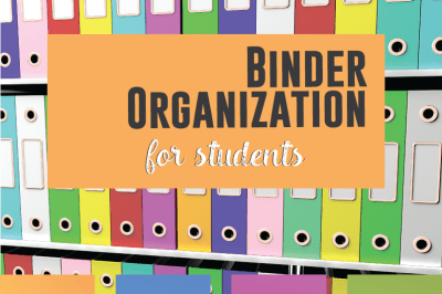 Binder Organization for Students