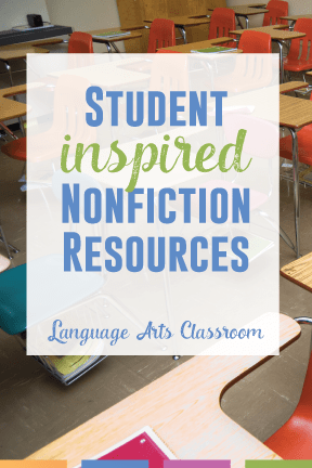 Giving student choice into the nonfiction they study and read. When students help choose their nonfiction, they enjoy writing and discussions.