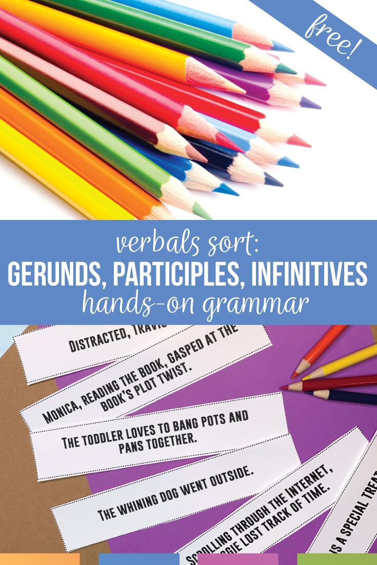 hight resolution of Verbals Lessons: Grammar Sorts