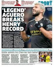 'Legend' Aguero Breaks Henry Record