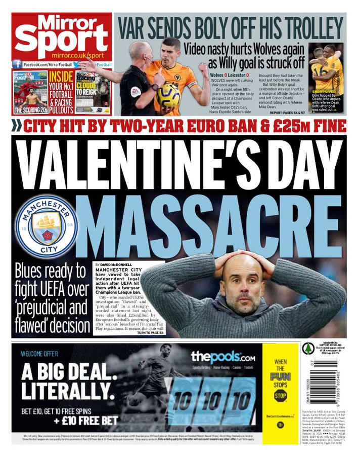 Newspaper Headline: Valentine's Day Massacre