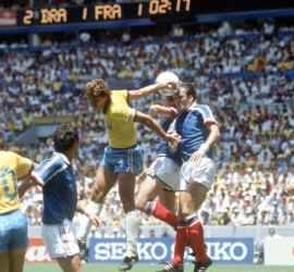 1986 World Cup France v Brazil