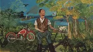 Antonio Ligabue e la sua motocicletta