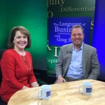 Blyth Lord and Darby Hobbs in TV studio: Non-profit and Socially Responsible Entrepreneurship