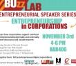 Speaking Panel: Entrepreneurship in Corporations: 11/3, 4 - 6 pm