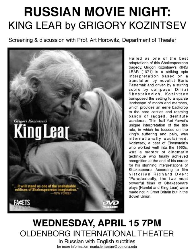 King Lear April 15
