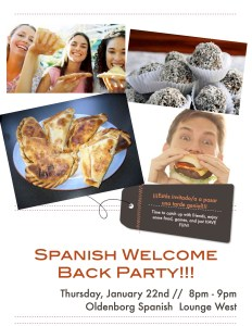 WELCOME BACK PARTY FLYER