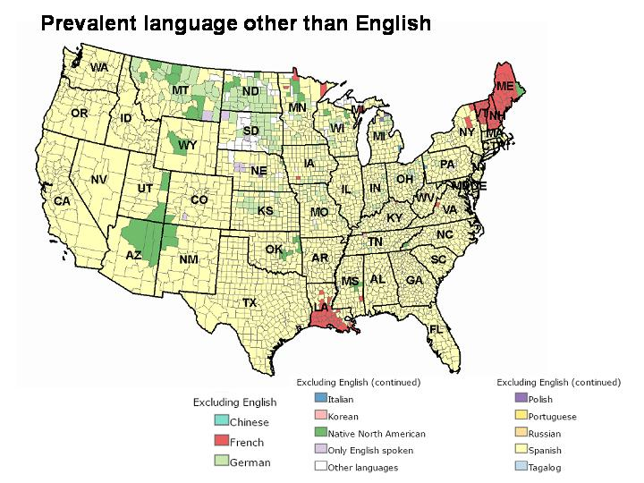 Spoken Mexico Language Map