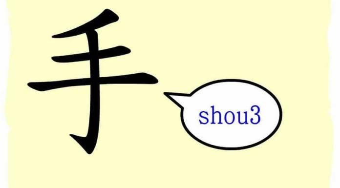 caractères chinois la main shou