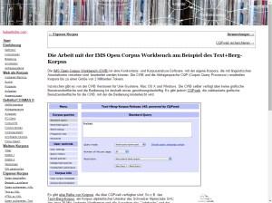 Noah Bubenhofer's CQPweb Tutorial (German)