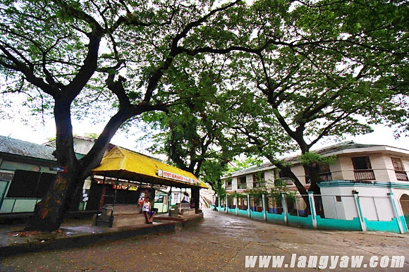 At the town center located at an elevated area just near the sanitarium hospital and the museum