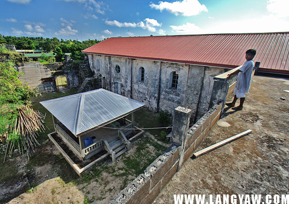 Inside the Agutaya fortress-church complex