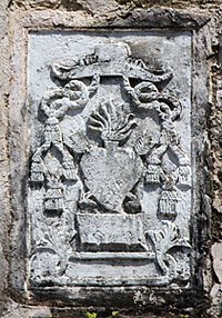 Augustinian Recollect seal carved at the side of the church.