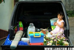 My niece Enicka is set for the cemetery where family and relatives will gather.