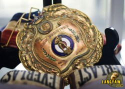 The pride of Bogo, Flash Elorde was a native son and in the city's museum, some of his memorabilia including this belt is on display.
