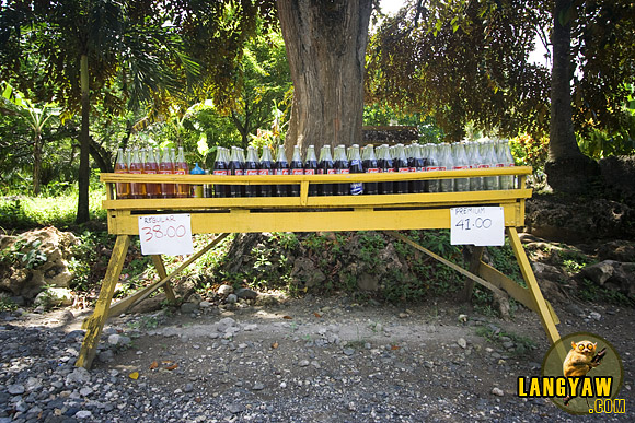 A gasoline station in Tabuelan. The fuel is sold by the liter but at a premium. Click on photo for a larger image.