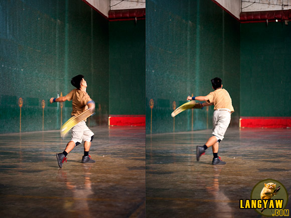 The speed of the pelota as it is flung by the pelotari against the wall is one of the fastest in any sport. Watching this game is really a thrill as pelotaris try to capture or sometimes evade from it
