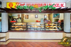 The visitor is greeted with a counter full of baked delights.