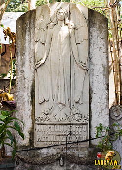 An art deco tombstone of the Sotto's