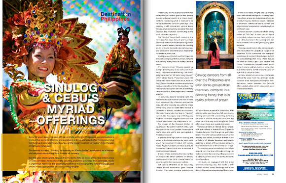 Sinulog and Cebu's Myriad Offerings - Living Today February 2010 issue