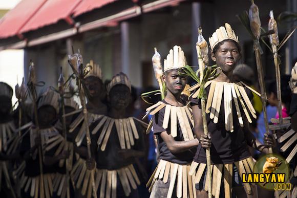 Ati-Ati dancers during Ibajay's (Aklan) festival