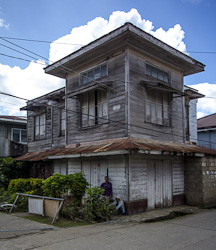 One of the few old houses in the town