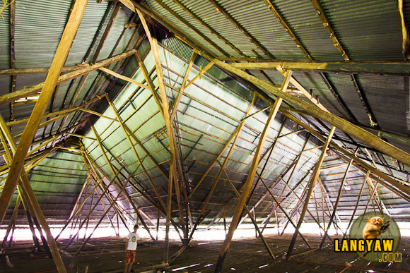 Under the huge roof of Lazi's kumbento in Siquijor. The largest in the Philippines