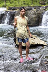 Man fishing for freshwater food