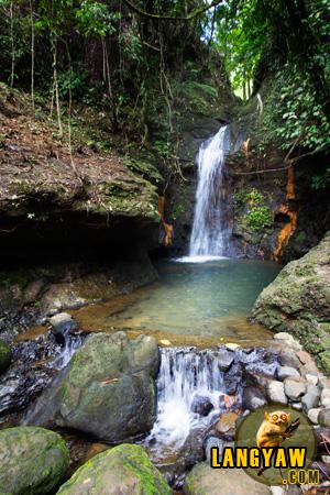 Quaint Kalikasan Falls with a shallow basin perfect for a dip