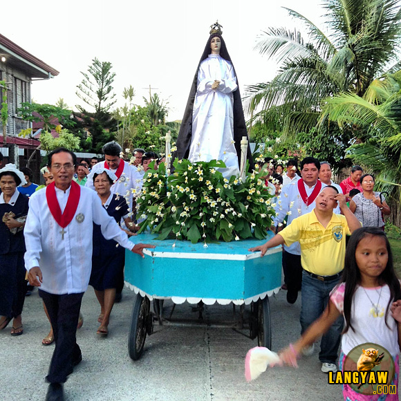 Good Friday procession along the quite streets of the town